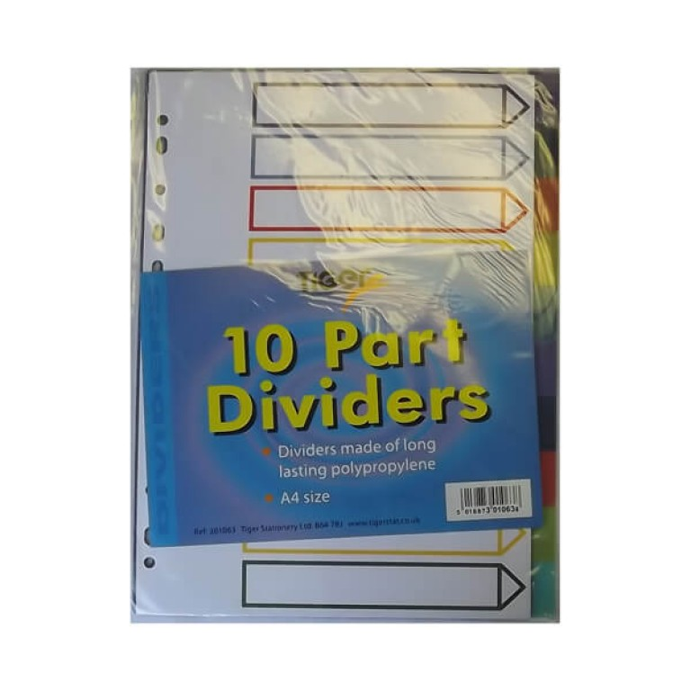 10 Part File Dividers