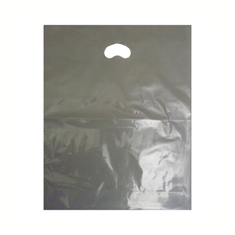 "Clear Plastic Carrier Bags (15"" x 18"")"