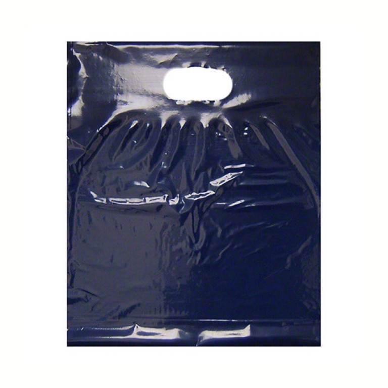 "Navy Blue Plastic Carrier Bags (15"" x 18"")"