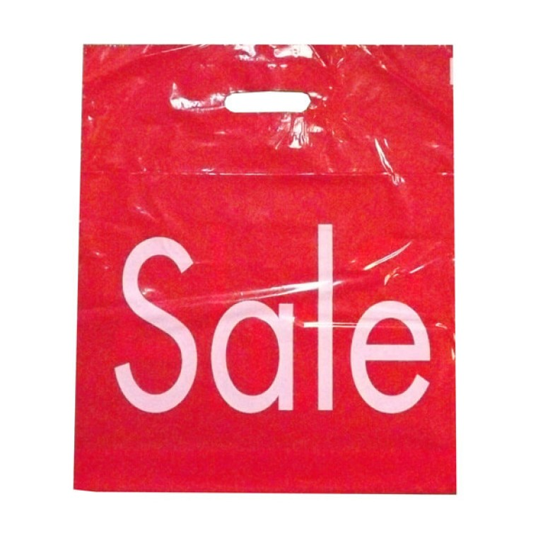 Red 'Sale' Patch Handle Bag