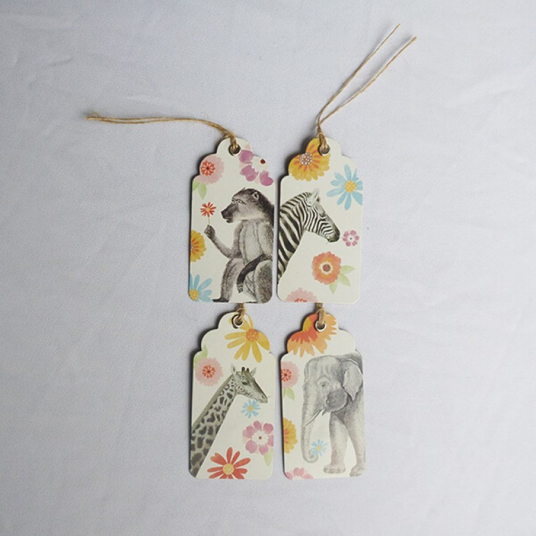 Animal Design Gift Tags - Set of 8