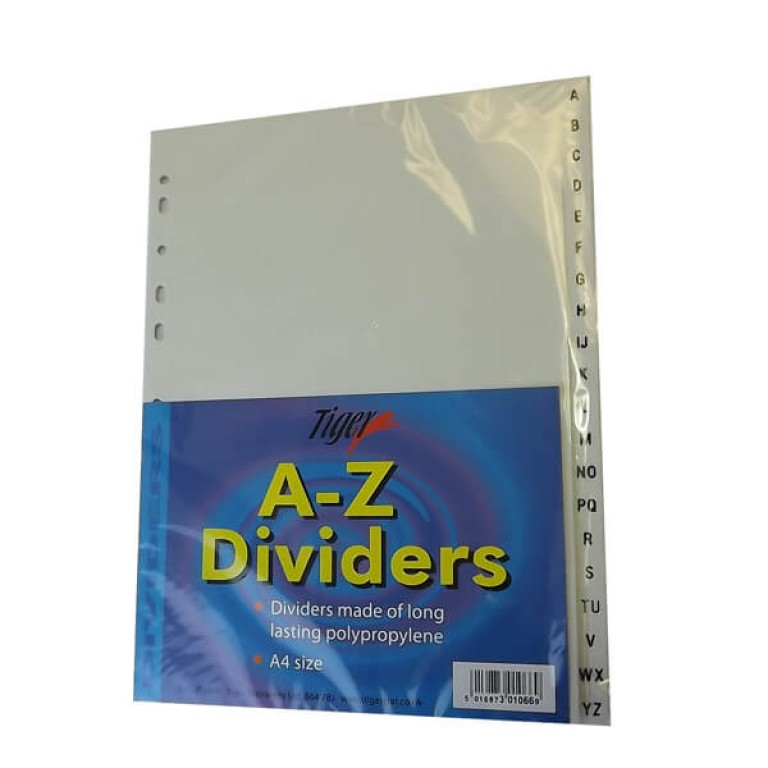 A-Z File Dividers