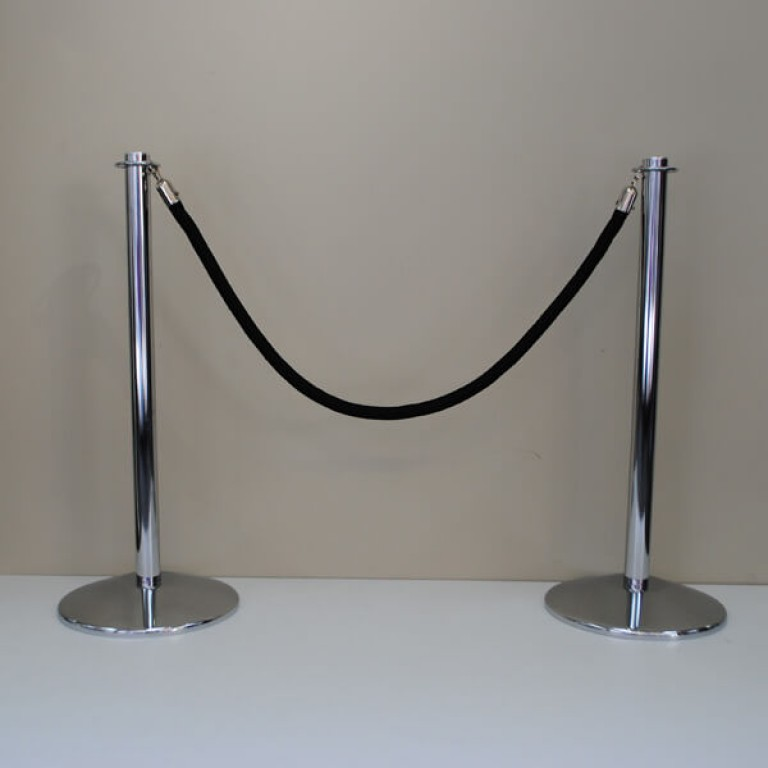 Chrome Barrier Post (for use with rope)