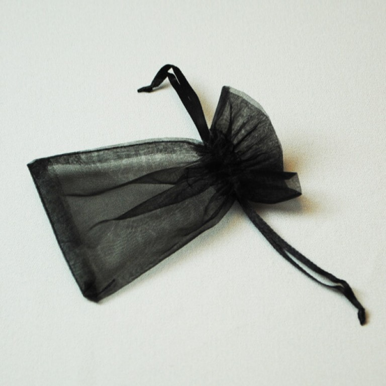Organza Bag - Black (Pack 25)