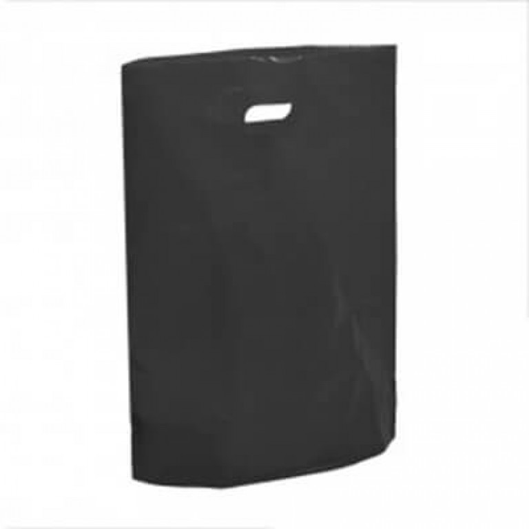 """Black Plastic Carrier Bags - Small (10"""" x 12"""")"""