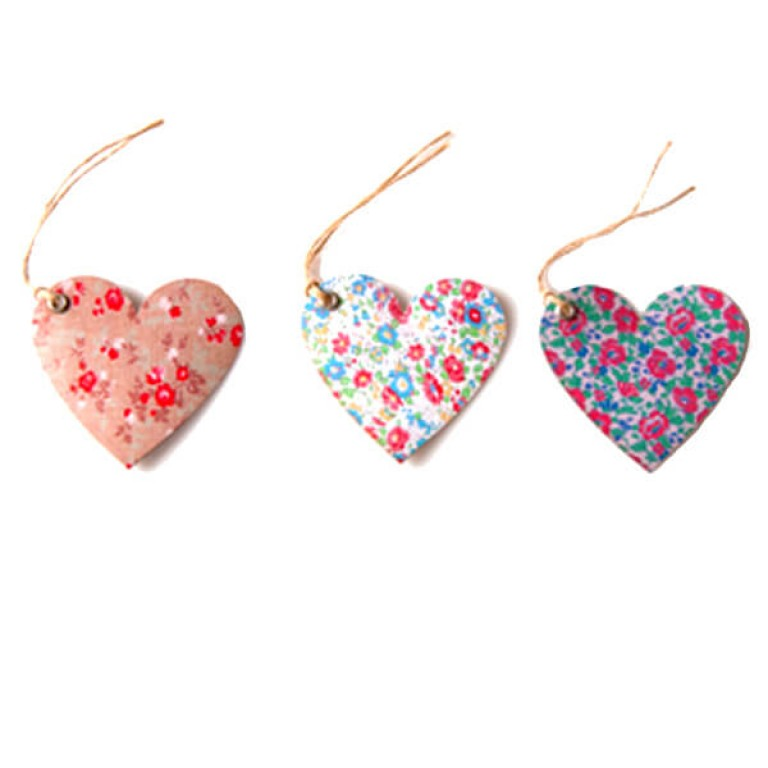 Heart Shaped English Garden Gift Tags - Set of 15
