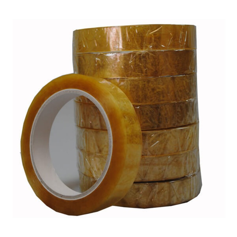 Clear Self-adhesive Packing Tape (19mm) - 8 pack