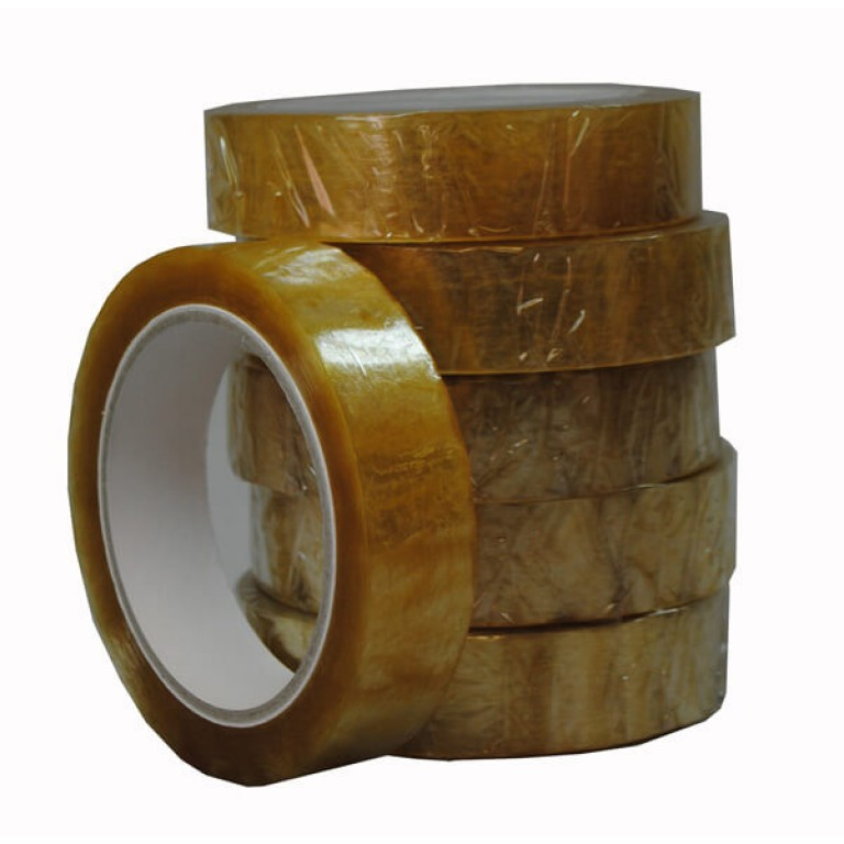 Clear Self-adhesive Packing Tape (25mm) - 6 pack