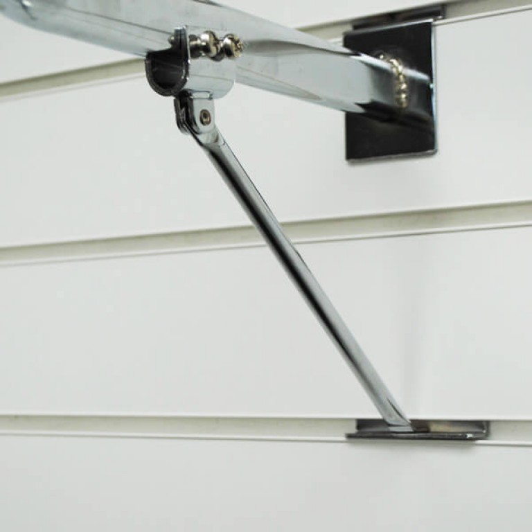'D' Slatwall Rail Support Arm (chrome)