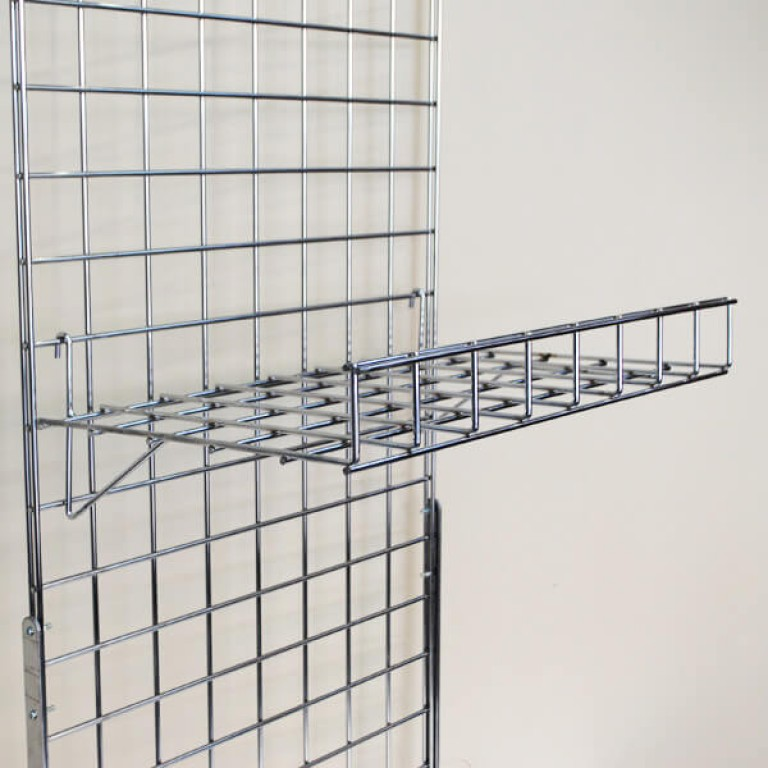Gridwall Flat Shelf with Lip