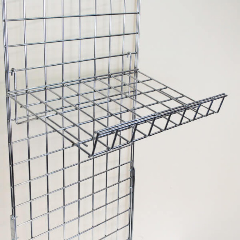 Gridwall Sloping Shelf with Lip