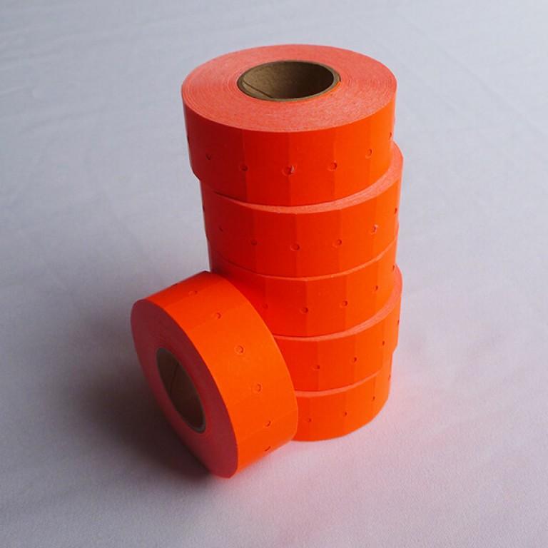 Peelable Labels for CT-1 Label Gun (flourescent orange)