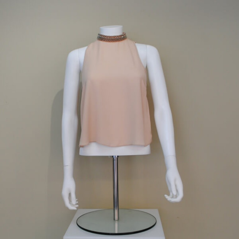 Female White Headless Torso with Arms