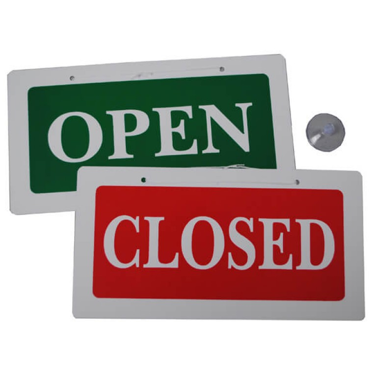 """Reversable """"Open/ Closed"""" Sign"""