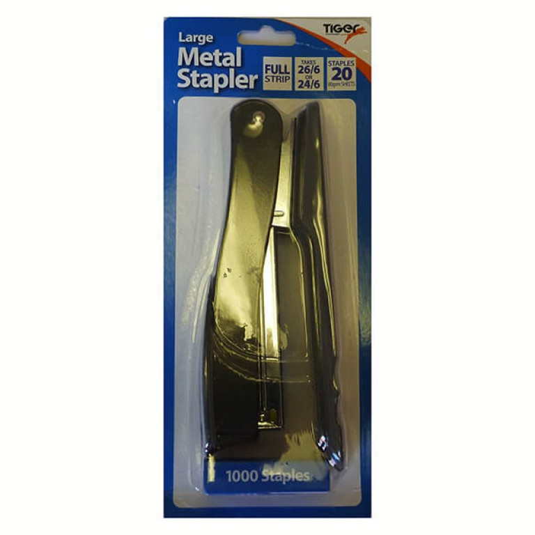 Metal Stapler Large With 1000 26/6 Staples
