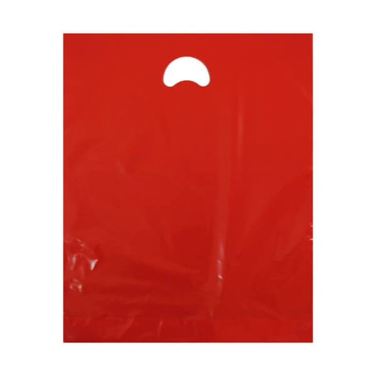 "Red Plastic Carrier Bags (15"" x 18"")"
