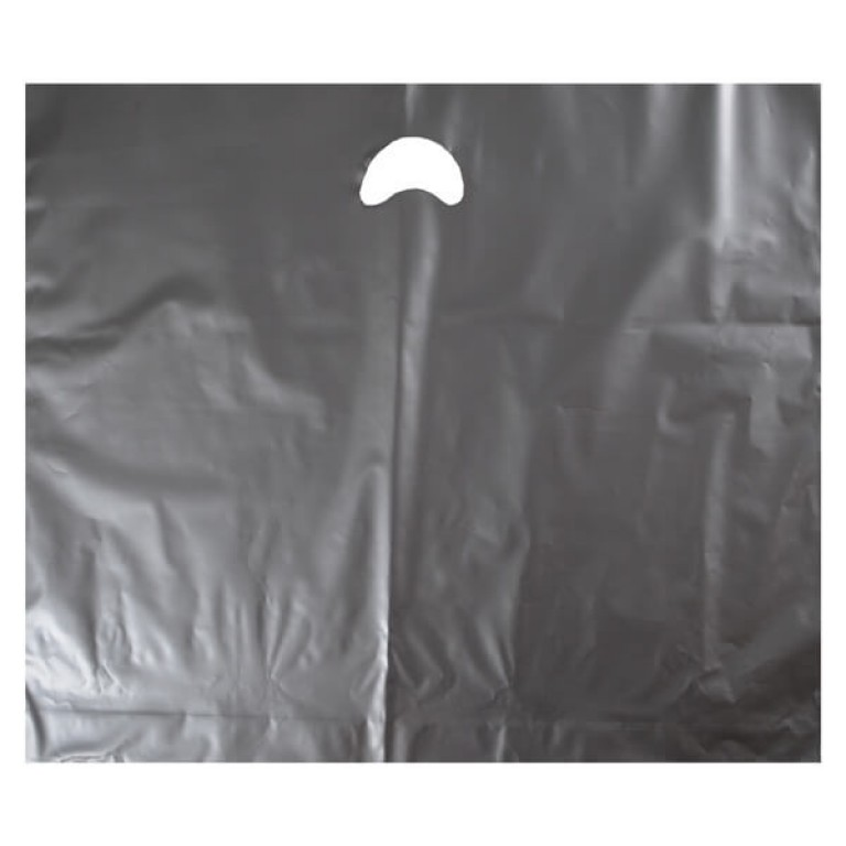 """Silver Plastic Carrier Bags - Large (22"""" x 18"""")"""
