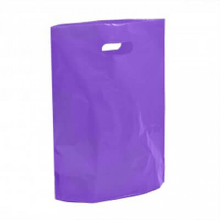 "Violet Plastic Carrier Bags - Small (10"" x 12"")"