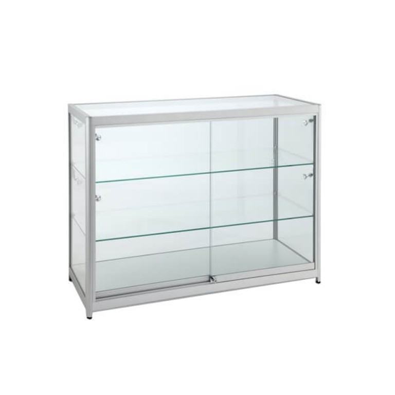 Triple Tier Glass Display Cabinet - Large