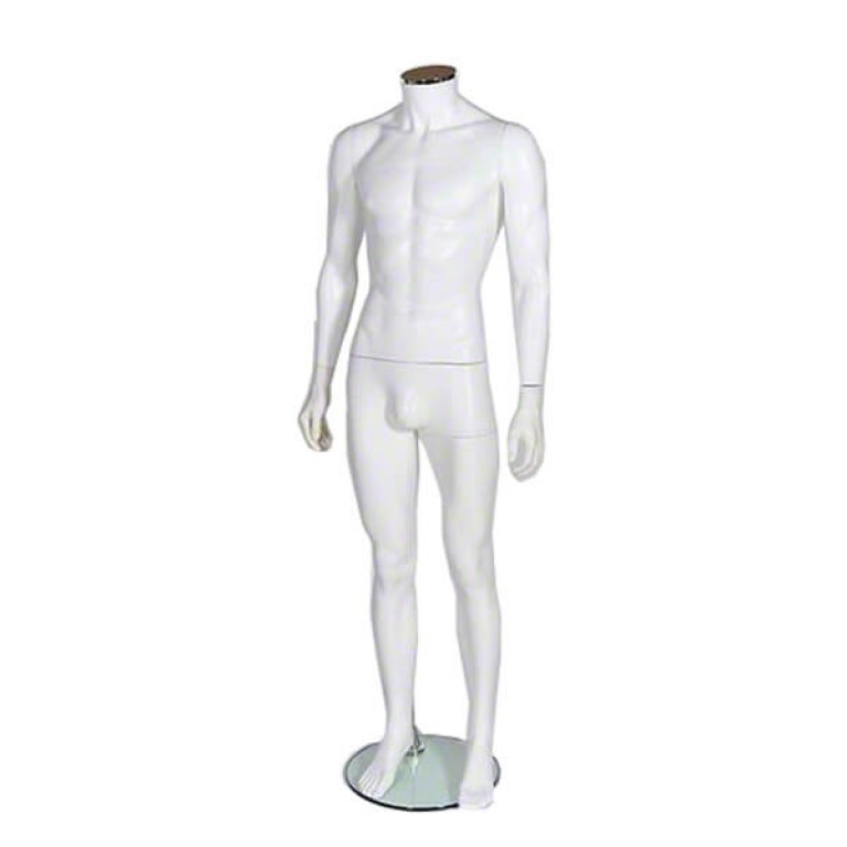 Male Plastic Headless Mannequin