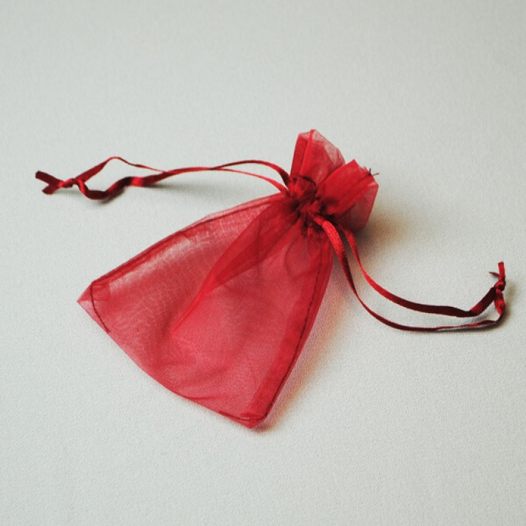 Organza Bag - Red (Pack 25)