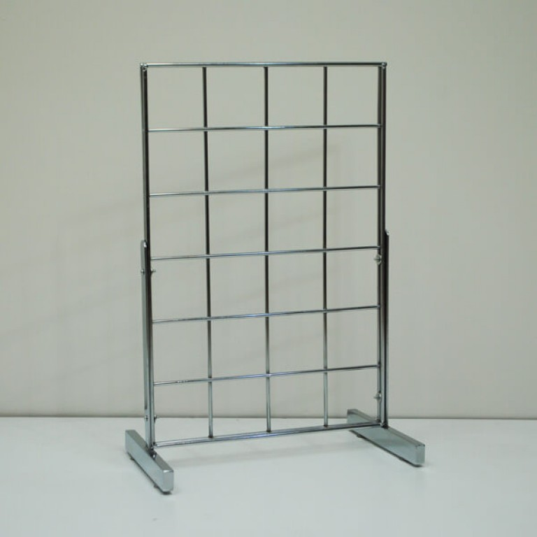 Gridwall counter display unit