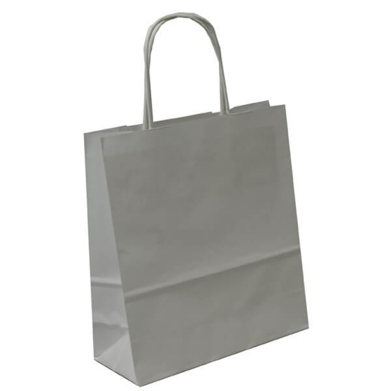 White  Paper Gift Bags With Handles