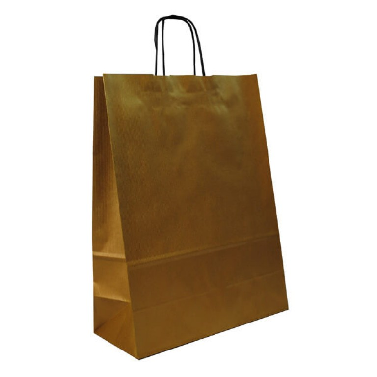 Medium Portrait Fashion Carrier Bag (gold)