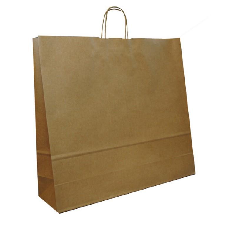 XXL Twist Handle Carrier Bag (Brown)