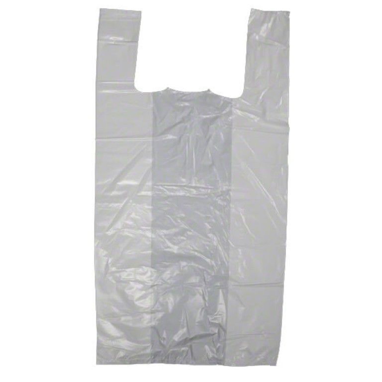 White Vest Carrier Bag