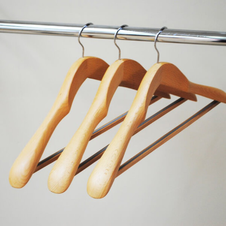 Premium Quality Wooden Coat Hangers With Bar