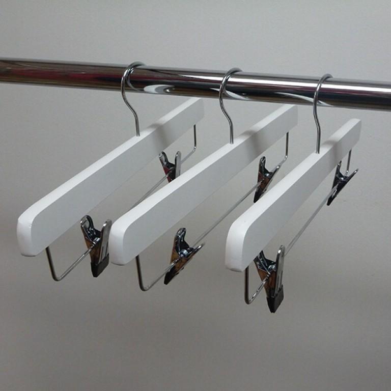 white clip hanger