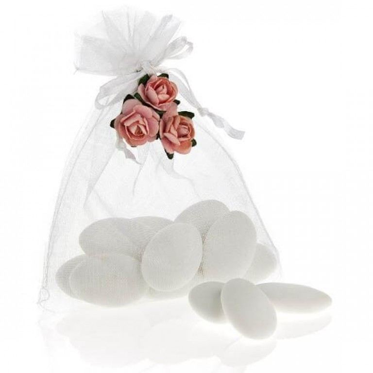 Organza Bag - White (Pack 25)