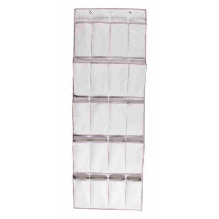 20 pocket over-door organiser