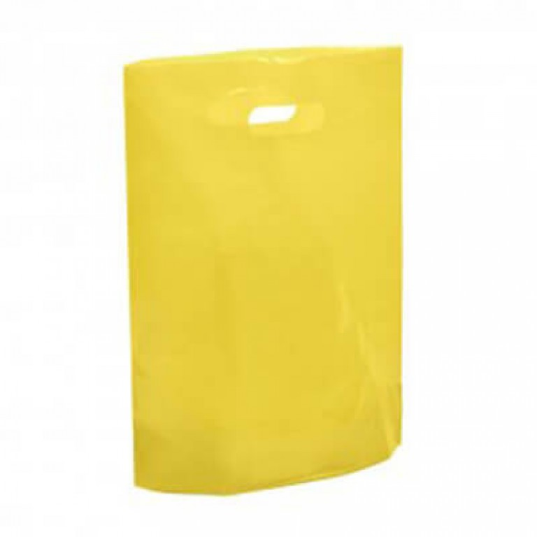 """Yellow Plastic Carrier Bags - Small (10"""" x 12"""")"""