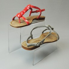 Acrylic Step Unit Shoe Display - 2 Step