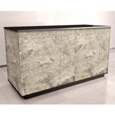 Gloss Black Cash Counter With Silver 'Real Stone' Finish