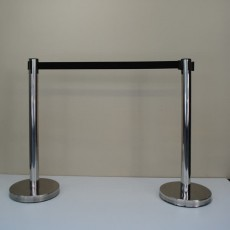Chrome Auto-Retractable Barrier Post