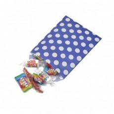 Polka Dot Paper Bags-Blue