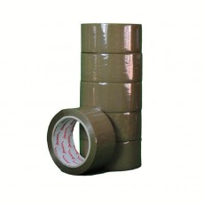 Brown Self-adhesive Packing Tape (50mm) - 6 pack