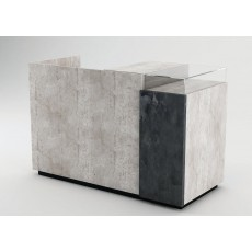 Concrete Cash Counter (Banco Cassa) With Oxidised Metal Panel
