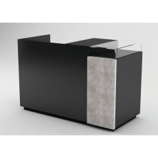 Gloss Black Cash Counter (Banco Cassa) With Concrete Panel