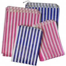 "Candy Striped Paper Bags (7"" x 9"")"