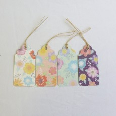 Watercolour Floral Design Gift Tags - Set of 8