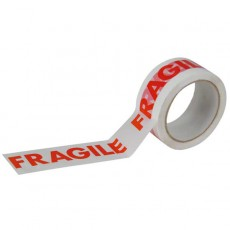 White Self-adhesive 'Fragile' Packing Tape (50mm) - 6 pack