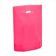 "Fushia Plastic Carrier Bags - Small (10"" x 12"") - 100"