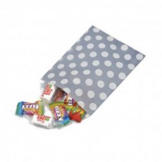 Polka Dot Paper Bags-Grey