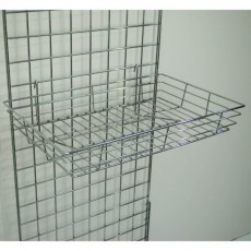 Heavy Duty Gridwall Basket (chrome)