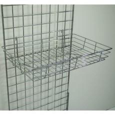 Heavy Duty Gridwall Basket (chrome)