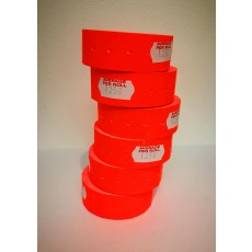 Peelable Labels for CT-1 Label Gun (flourescent red)